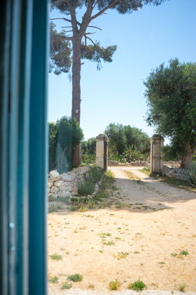 The entrance to the Masseria Serra dell'Isola