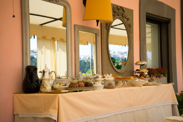 The breakfast buffet at Masseria La Chiusa Delle More