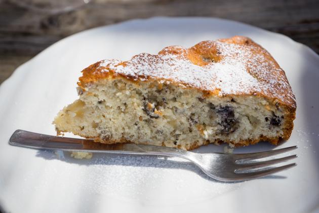 Torta di gelsi (mulberry cake)