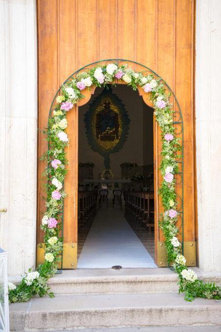 The door to the church