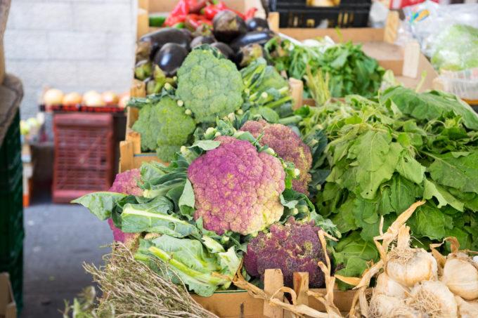 Sicilian violet cauliflower