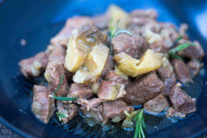 The perfect spring dish: lamb and artichoke stew