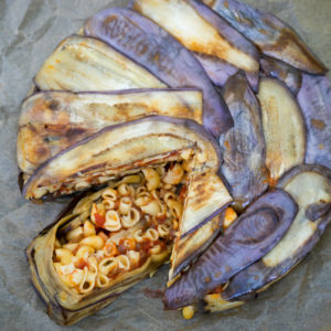 Dreaming of Sicily: aubergine/eggplant pasta timbale