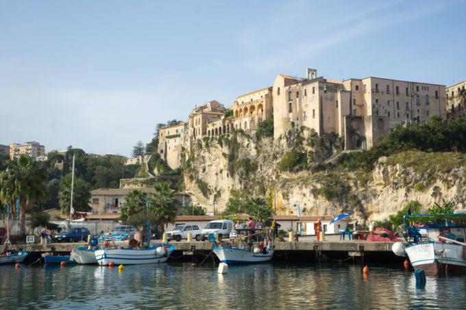 A view of Tropea from the sea