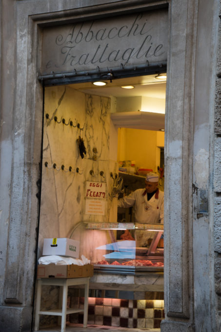 Orelli, a butcher famous for its abbacchio (milk-fed lamb)