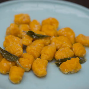 Pumpkin gnocchi in sage and butter sauce