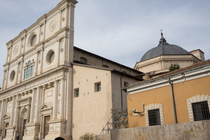 The 16th century Chiesa di San Bernardino (closed when we visited)