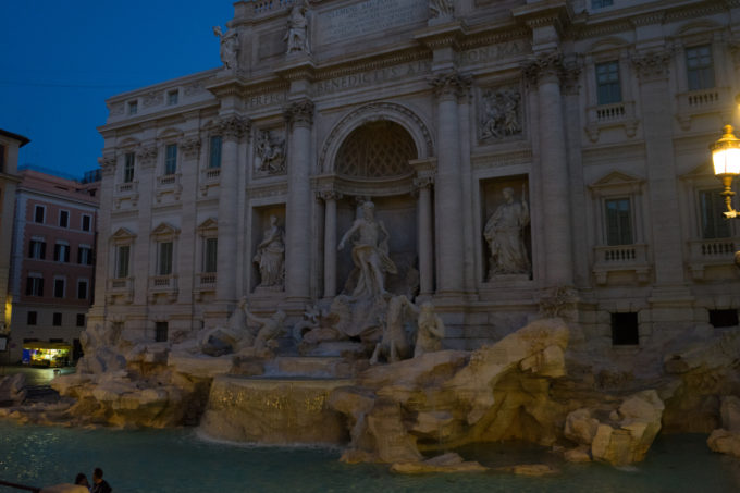 The Trevi Fountain at dawn