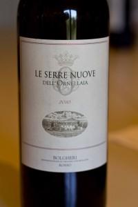 Le Serre Nuove, the second wine to Ornellaia