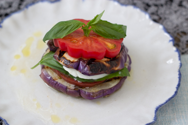 Summer aubergine (eggplant) parmesan