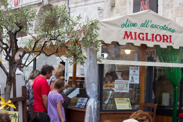 Migliori, famous for their olive ascolane