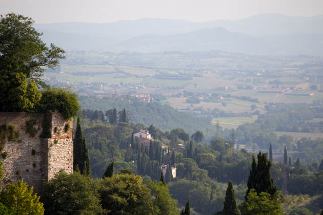Overlooking the countryside outside Perugia