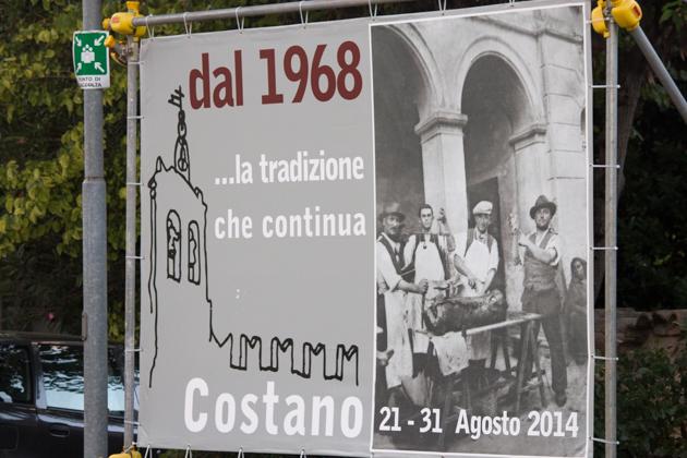 Porchetta festival in Costano