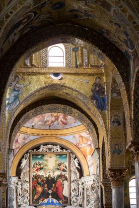 Inside the Martorana church