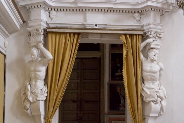 Portrait room where arms are left at the Oratorio del Rosario di Santa Cita
