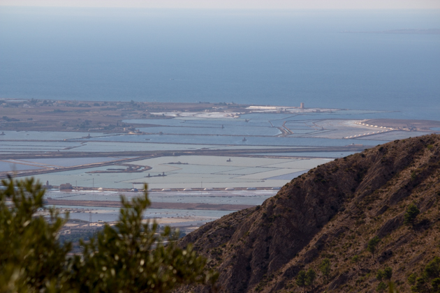 Looking out at the salt flats off Trapani