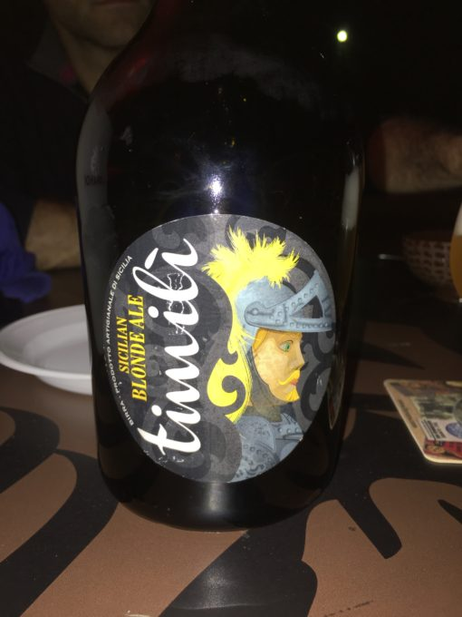 Sicilian blonde ale made from timili (an ancient grain)
