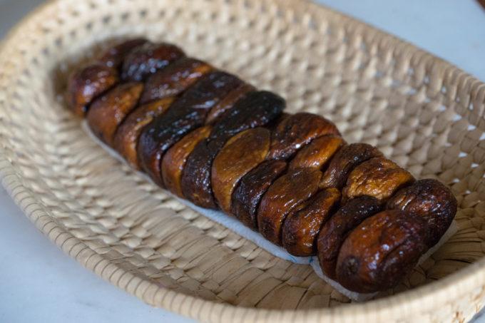 Braided dried figs