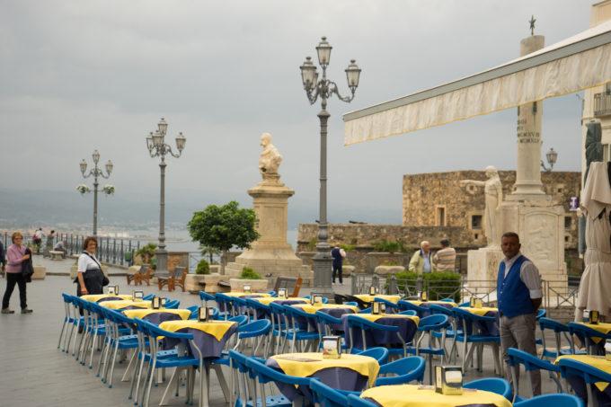 In Piazza della Repubblica in Pizzo facing Castello Murat