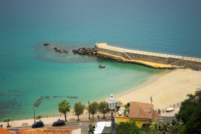 The beach in Pizzo