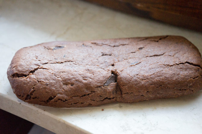 Biscotto di prato (an enormous chocolate and almond biscuit) from Biscotteria Artigianale