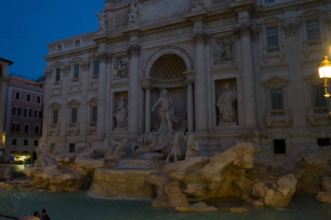 The Trevi Fountain at dawn